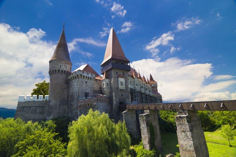 Hunedoara Castle stock image
