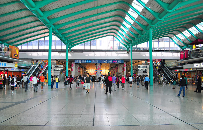 Hung hom railway station, hong kong. Main hall of hung home railway station that operates east and west rail lines in hong kong. hung hom station is one of the royalty free stock photography