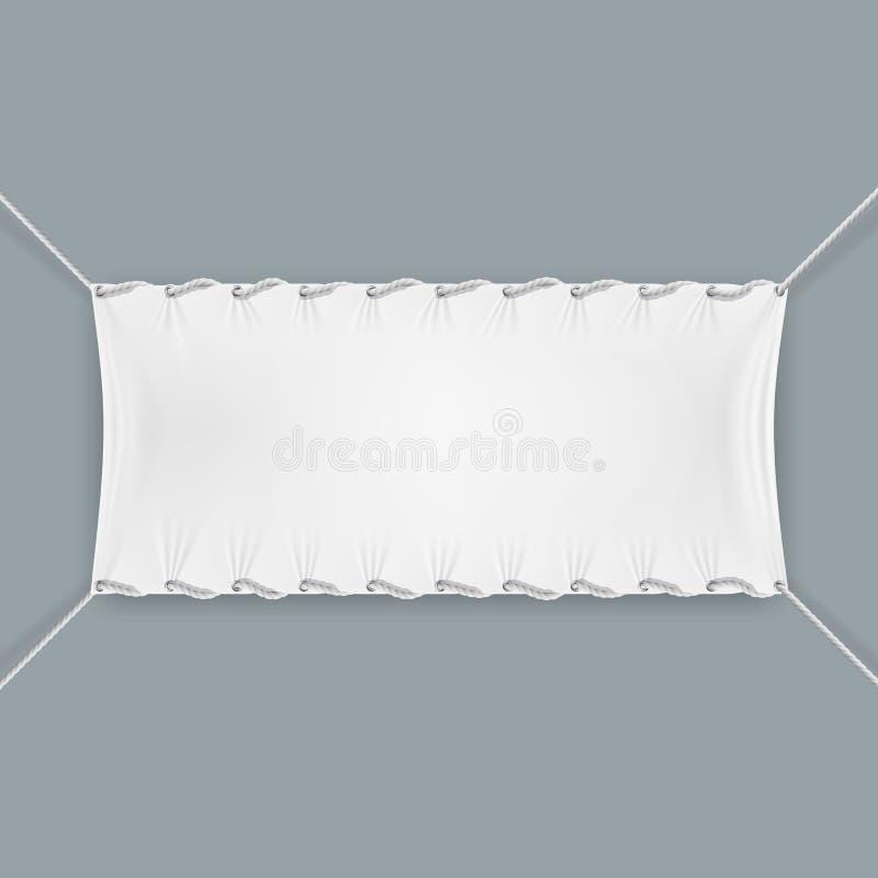Hung By Ropes Textile Banner lizenzfreie abbildung