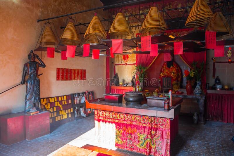 Hung Shing Temple interior, Mui Wo Lantau Island, Hong Kong. China. Beautiful religious place stock photos