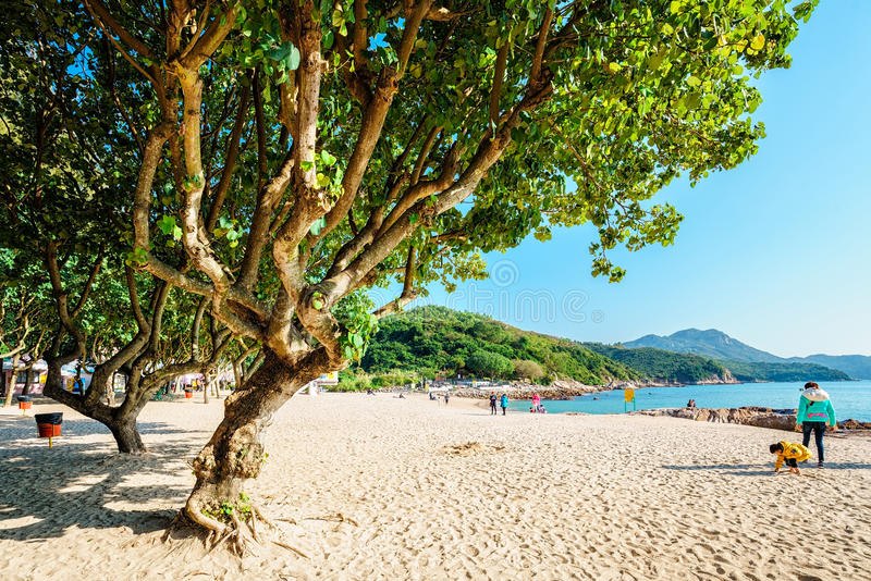 Hung Shing Yeh Beach auf Lamma-Insel, Hong Kong lizenzfreie stockfotos