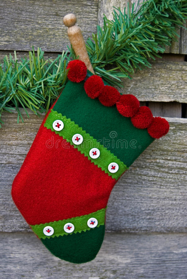 Hung Stocking royalty free stock images