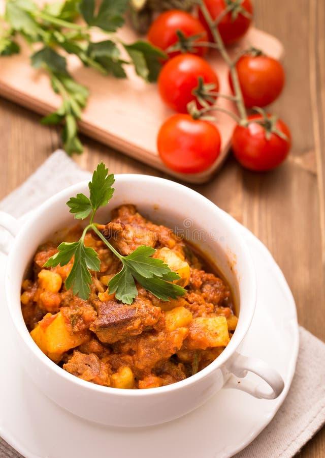 Hungarian beef goulash stock image