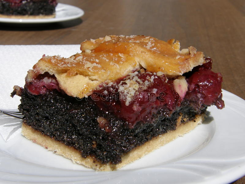 Download Hungarian Cherry And Poppy-seed Pie Stock Image - Image: 26546509
