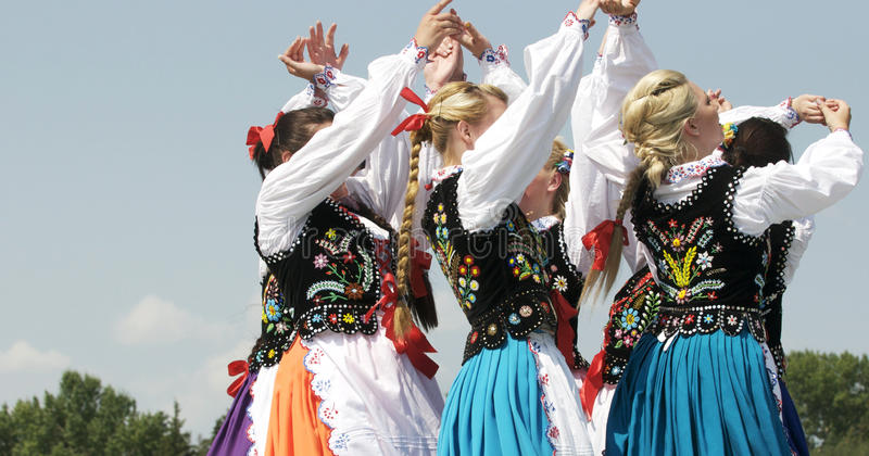 Hungarian Dancers. Performing at Edmonton's Heritage Days royalty free stock photography