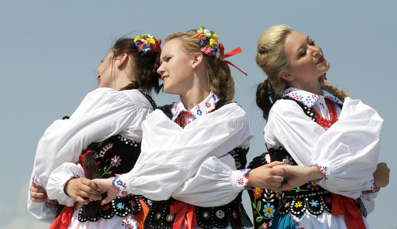 Hungarian Dancers. Performing at Edmonton's Heritage Festival royalty free stock photography