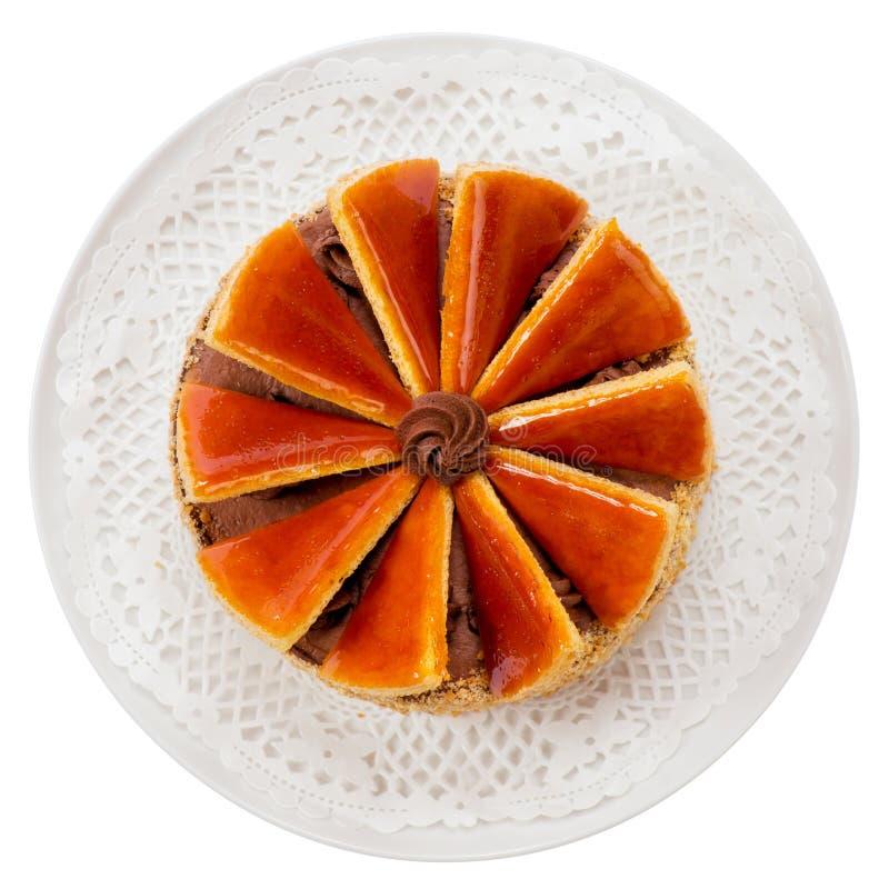 Hungarian Dobos torte - cake royalty free stock images