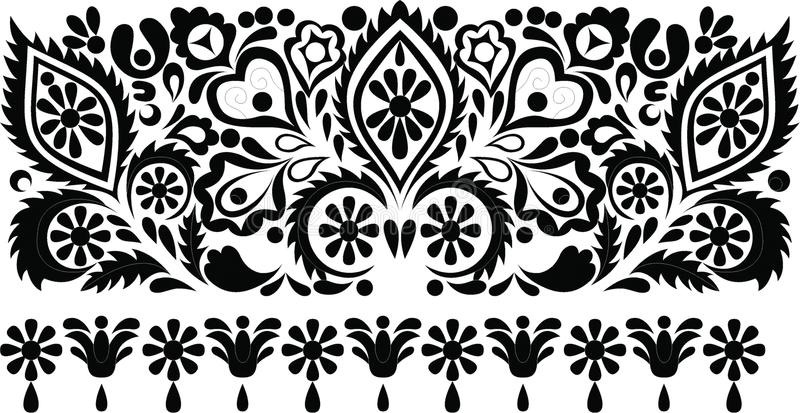 Hungarian folk art royalty free stock photo