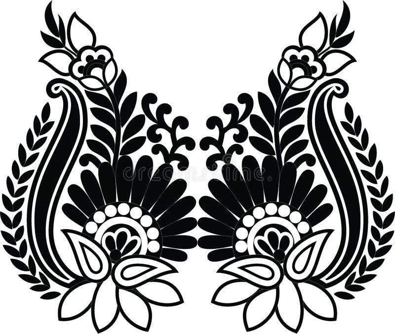 Hungarian folk art stock illustration