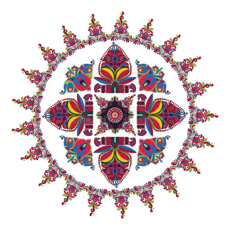 Hungarian folk motif vector illustration