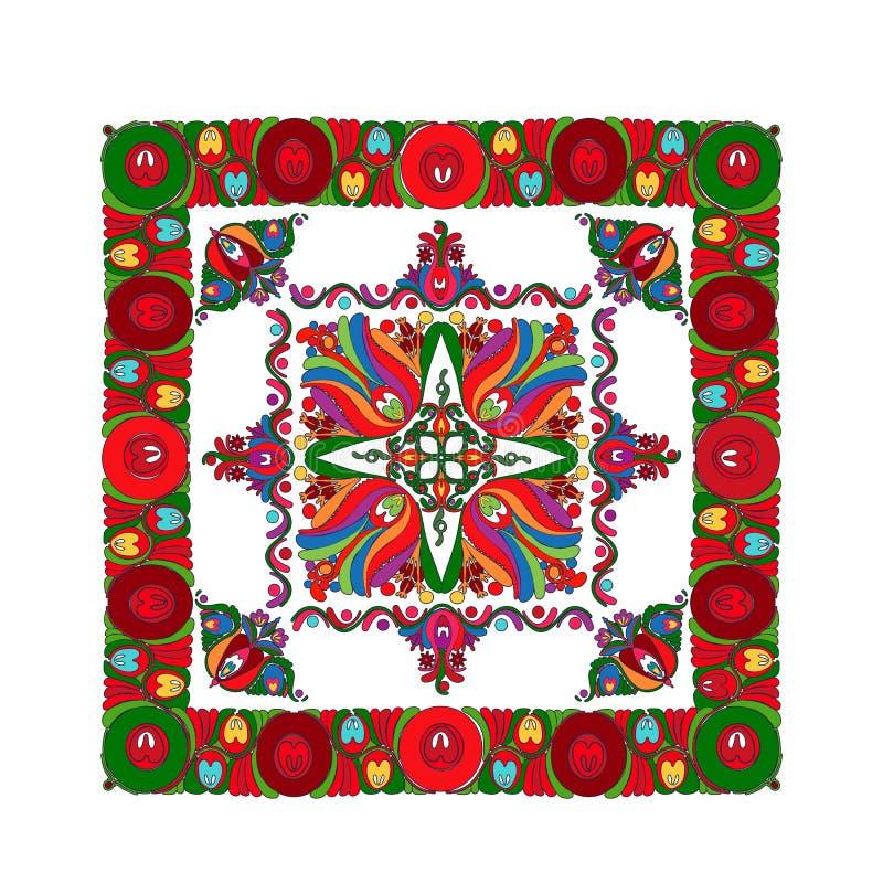 Hungarian folk motif 9 royalty free illustration