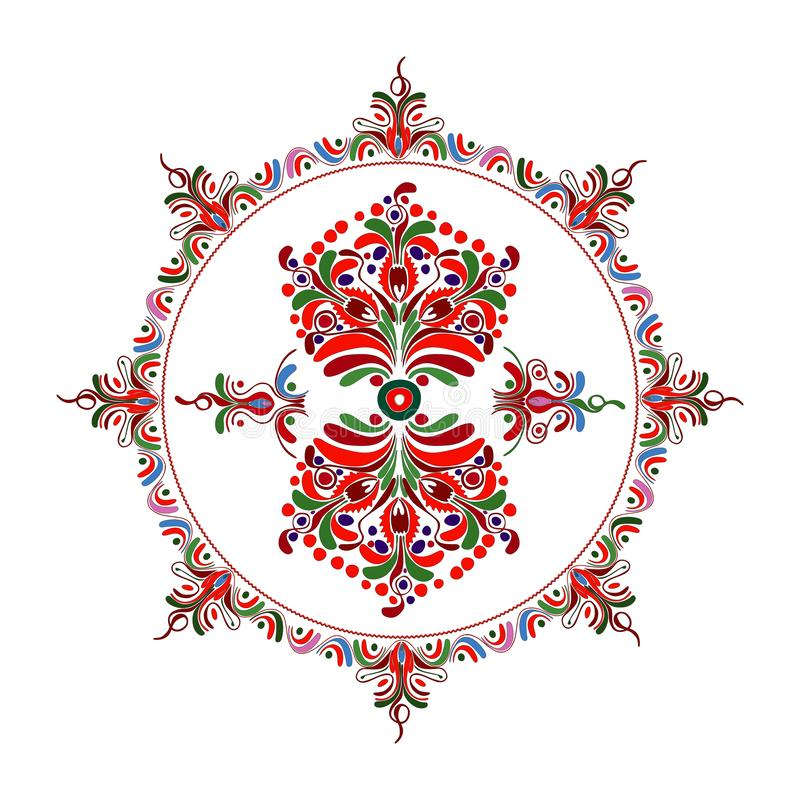 Hungarian folk motif stock illustration