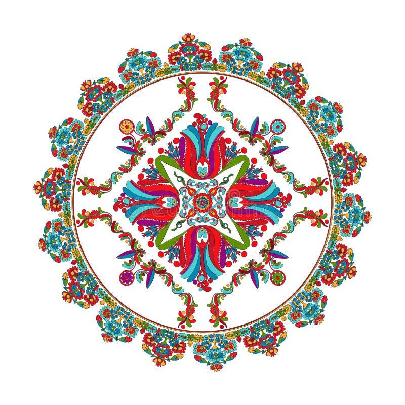 Hungarian folk motif royalty free illustration