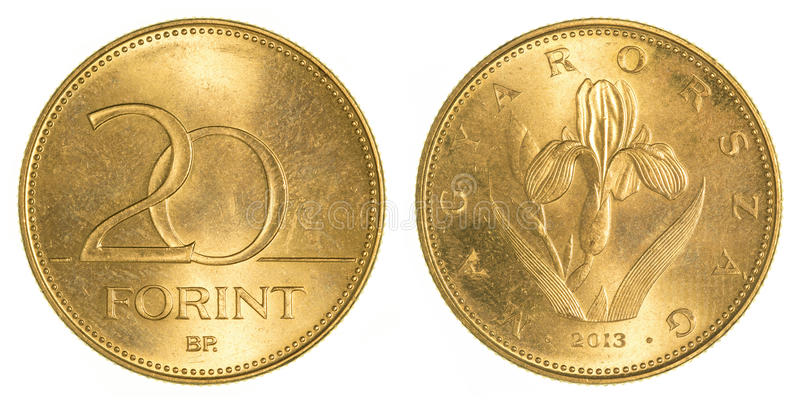 20 Hungarian forint coin stock image