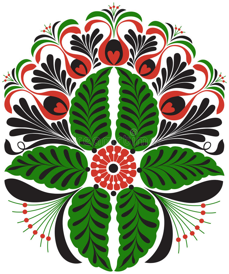 Free Hungarian Furrier Embroidery Motif Royalty Free Stock Photo - 75207485