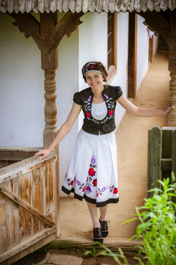 Download Hungarian Girl In National Clothes Stock Image - Image: 25825115