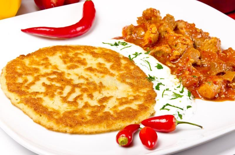 Download Hungarian Goulash With Potato Pancakes Stock Image - Image: 22114673
