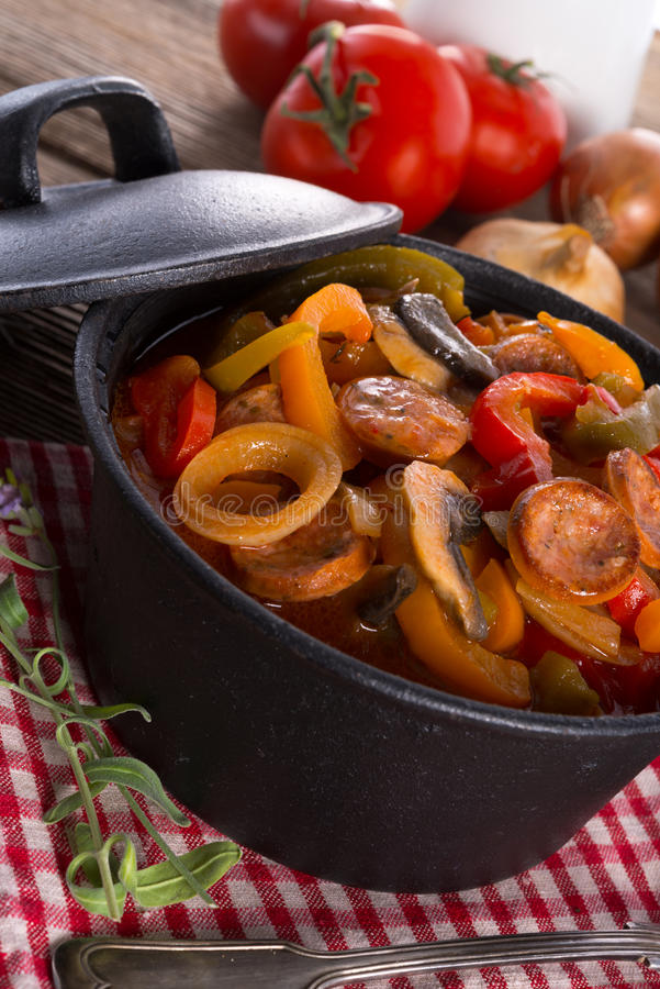Hungarian Lecho. A fresh and delicious Hungarian Lecho stock photos