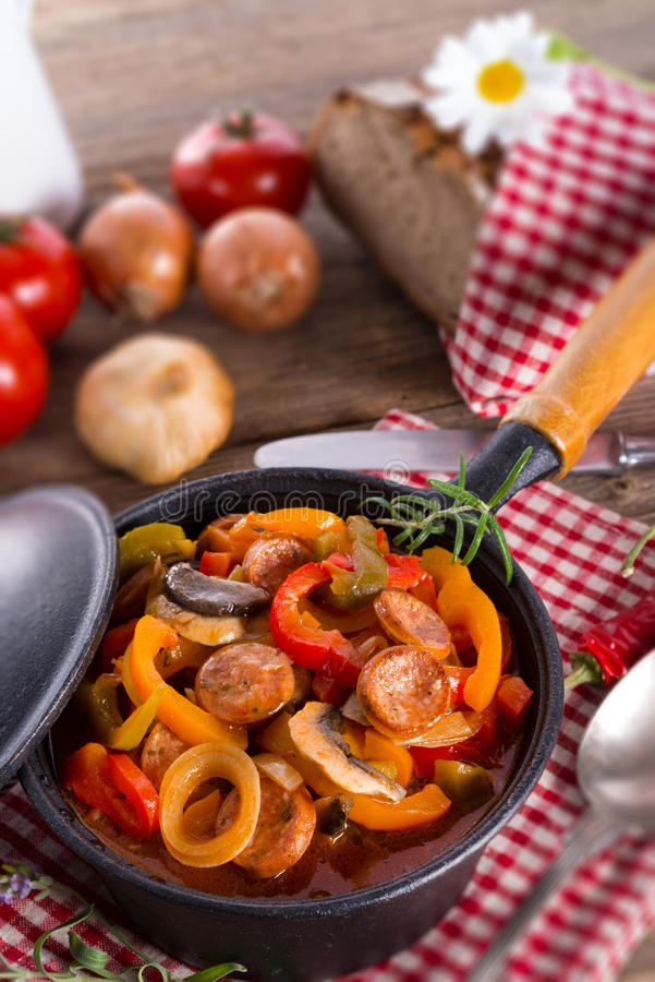 Hungarian Lecho. A fresh and tasty Hungarian Lecho royalty free stock images