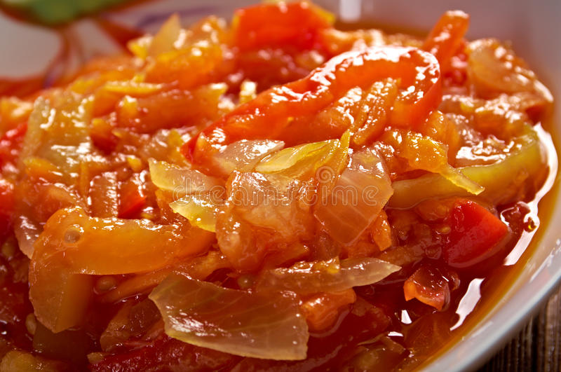 Hungarian Lecho. Olor cooking cuisine royalty free stock photo