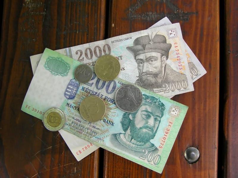 Hungarian money stock photo