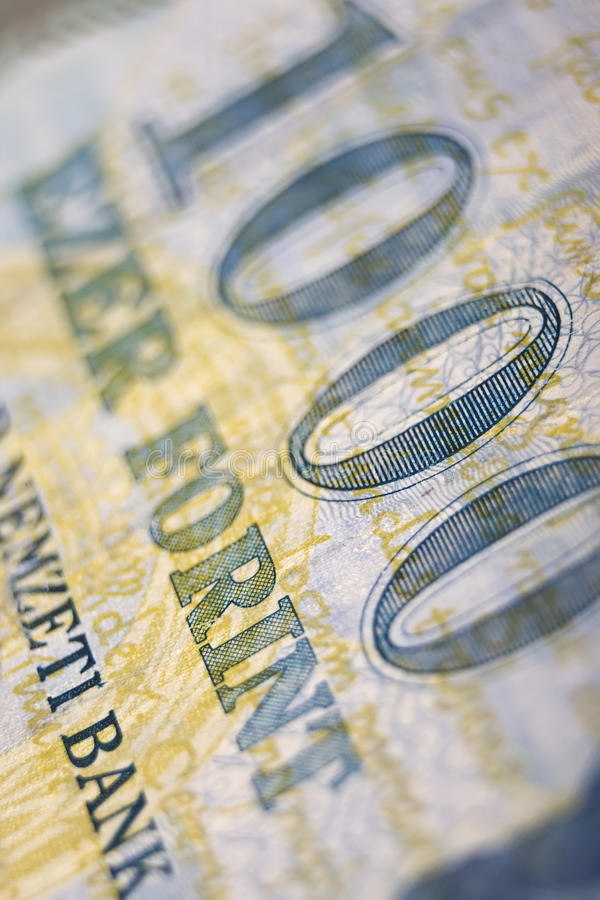 Hungarian money close up royalty free stock images