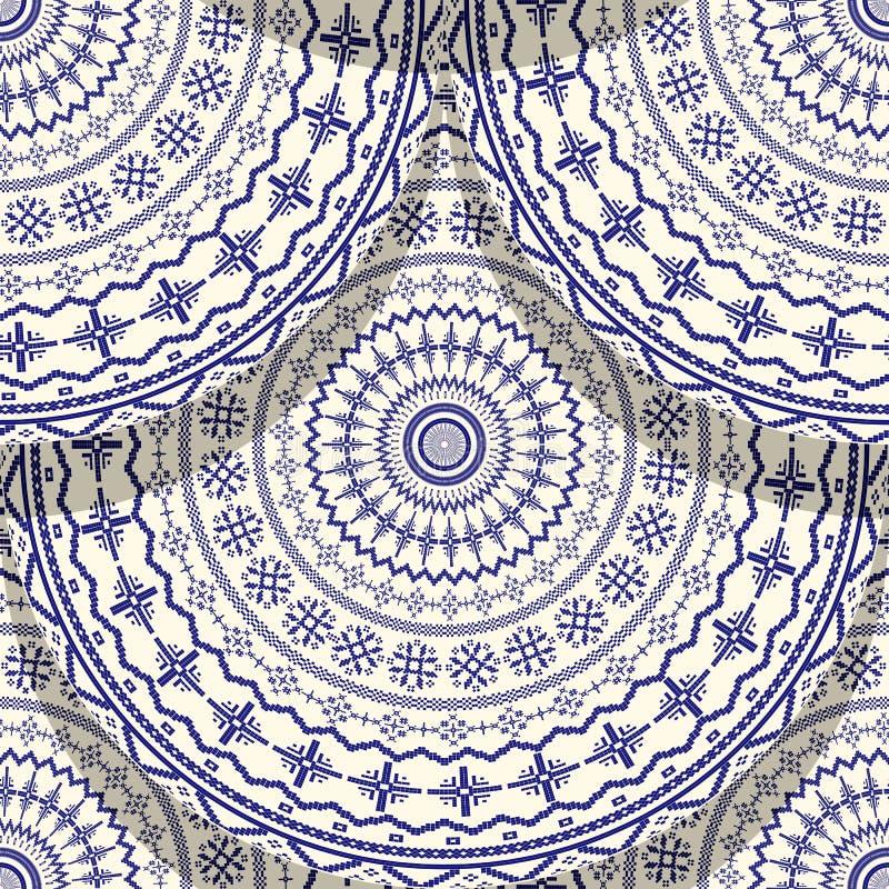 Hungarian motif tile stock illustration