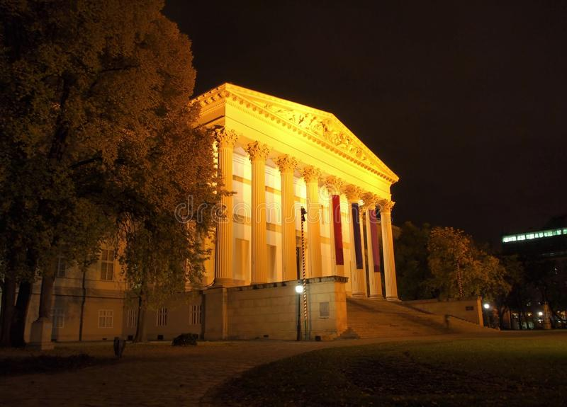 Download Hungarian National Museum stock photo. Image of night - 27724988