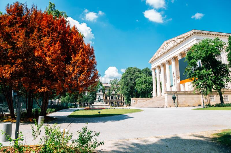 Hungarian National Museum in Budapest, Hungary. Europe stock photography