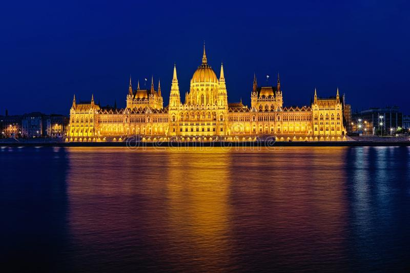 Hungarian Parlament & Blue Hour. The Budapest - Hungary Parlament at Blue Hour royalty free stock photography