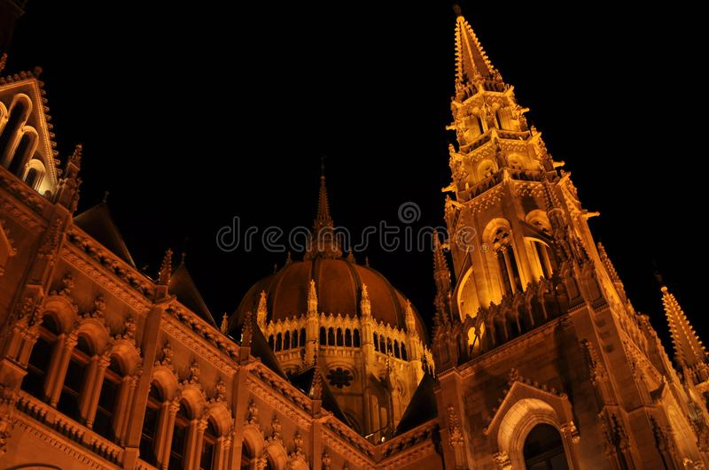 Hungarian Parlament in Budapest royalty free stock image