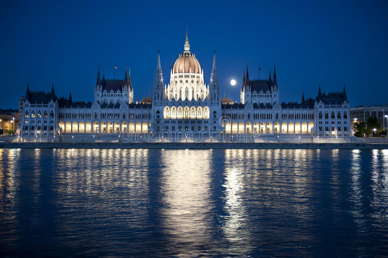 Download Hungarian Parliament stock image. Image of evening, city - 24298909