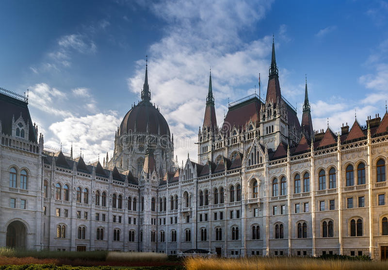 Hungarian Parliament Building, Budapest stock images