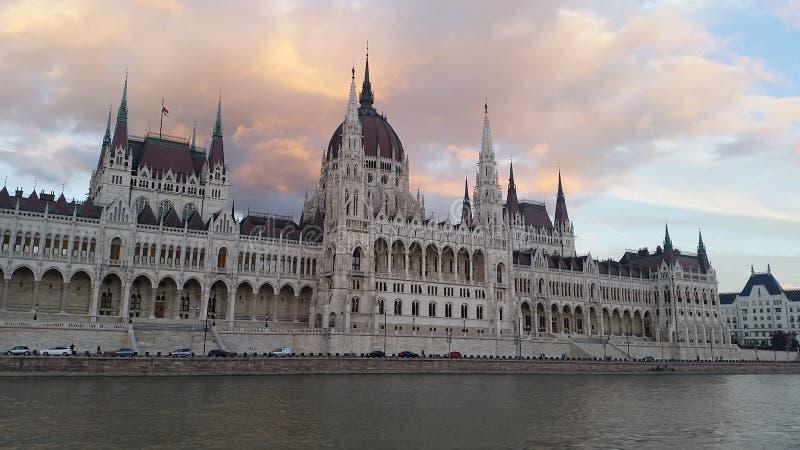 Hungarian Parliament Building. Budapest Hungarian Parliament Building view from Danube cruise stock photos