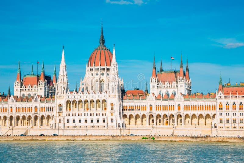 Hungarian Parliament Building and Danube river in Budapest, Hungary. Hungarian Parliament Building with Danube river in Budapest, Hungary stock images