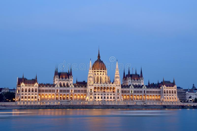 The Hungarian Parliament Building. (Hungarian: Országház, pronounced [ˈorsaːghaːz], which translates to House of the Country or House of the stock photo