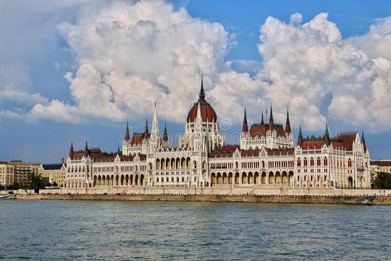 The Hungarian Parliament Building. (Hungarian: Országház, pronounced [ˈorsaːghaːz], which translates to House of the Country or House of the royalty free stock photography
