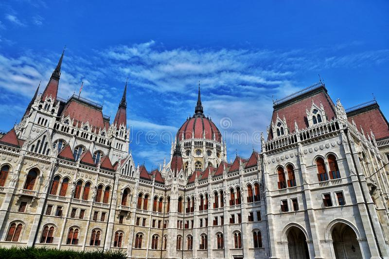 The Hungarian Parliament Building. (Hungarian: Országház, pronounced [ˈorsaːghaːz], which translates to House of the Country or House of the royalty free stock image