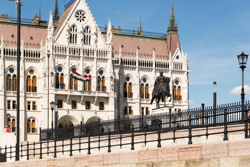 Hungarian Parliament Building in Hungary and Budapest. Three Days in Hungary and Budapest, at Central Europe royalty free stock images