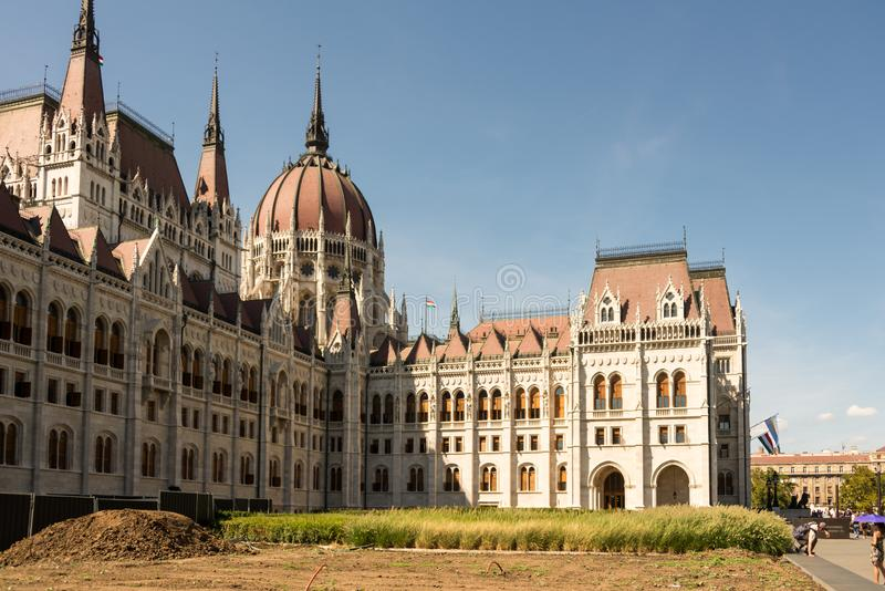 Hungarian Parliament Building in Hungary and Budapest. Three Days in Hungary and Budapest, at Central Europe stock image