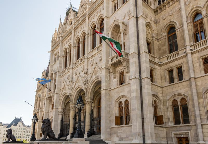 Hungarian Parliament Building in Hungary and Budapest. Three Days in Hungary and Budapest, at Central Europe stock photography