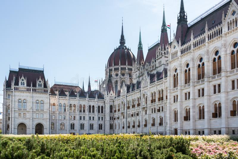 Hungarian Parliament Building in Hungary and Budapest. Three Days in Hungary and Budapest, at Central Europe royalty free stock image