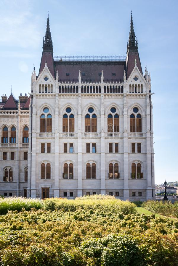 Hungarian Parliament Building in Hungary and Budapest. Three Days in Hungary and Budapest, at Central Europe stock photo