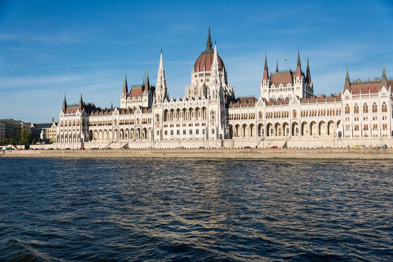 Hungarian Parliament Building in Hungary and Budapest. Three Days in Hungary and Budapest, at Central Europe stock photos