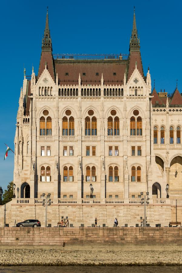 Hungarian Parliament Building in Hungary and Budapest. Three Days in Hungary and Budapest, at Central Europe royalty free stock photos