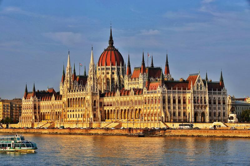 The Hungarian Parliament Building. (Hungarian: Országház, pronounced [ˈorsaːghaːz], which translates to House of the Country or House of the royalty free stock photos