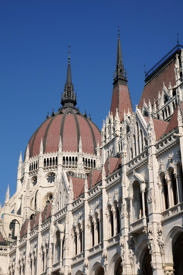 The Hungarian Parliament - Dome Roof Royalty Free Stock Photos