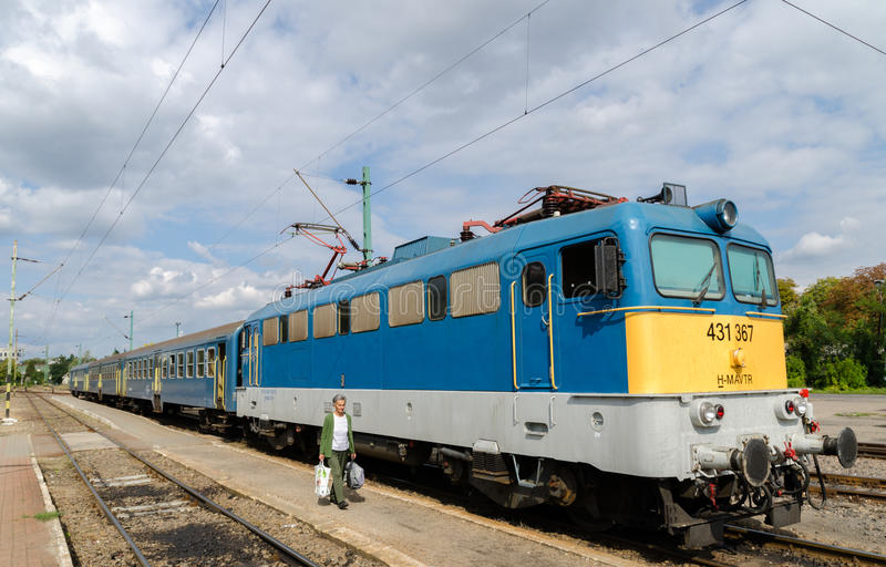 Hungarian regional train royalty free stock photography