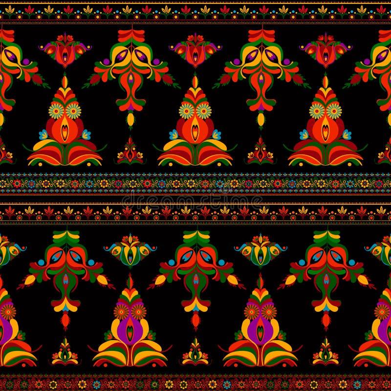 Hungarian seamless vector pattern stock illustration
