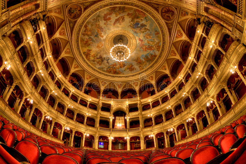 Hungarian State Opera House in Budapest stock photos